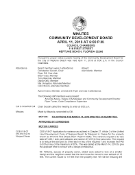 MINUTES COMMUNITY DEVELOPMENT BOARD APRIL 11, 2018 AT 6:00 P.M.