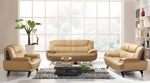 Astonishing Design Of The Brown Leather Modern Sofa Sets With Grey