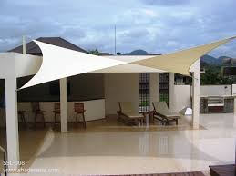 fabric patio covers. Triangle Sail Patio Covers Sleek And Modern Fabric Shade Sails Magical