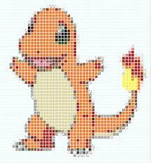 Charmander Pixel Art Template Minecraft Blog