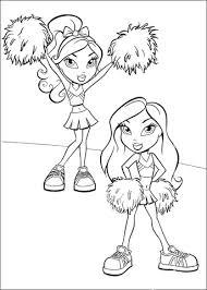 Cheerleader Met Pompoms Kleurplaat Gratis Kleurplaten Printen