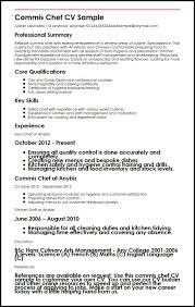 commis chef cv sample myperfectcv chef sample resume sample resume for chef