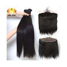 Straight Bundle Length Chart Aliafee Hair 1b 2 4 Peruvian Hair Weave Bundles With Frontal 13 4 Peruvian Straight Human Hair Bundles With Frontal Non Remy Color 1b Length 12 14