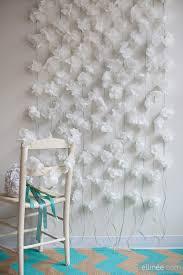 White Paper Flower Garland Diy Paper Napkin Flower Garland Tutorial The Elli Blog