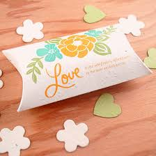 plantable wedding favor pillow boxes plantable seed wedding Seed Cards Wedding Favors plantable wedding favor pillow boxes plantable seed cards wedding favors