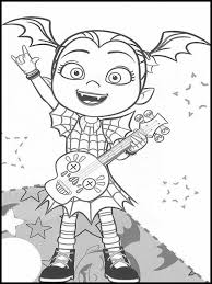 1000 plus free coloring pages for kids to enjoy the fun of coloring including disney movie coloring pictures and kids favorite cartoon characters. Vampirina Coloring Pages 1 Disney Princess Coloring Pages Disney Coloring Pages Halloween Coloring Pages Printable