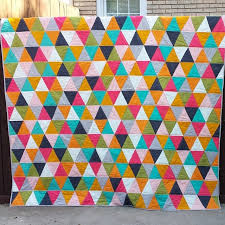 Triangle Quilt Finished! - Craftyminx & Triangle Quilt Finished! It's done! The top couple of feet is draped over  the top of the fence Adamdwight.com
