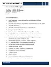 customer customer service job description for resume customer service job description for resume template full size