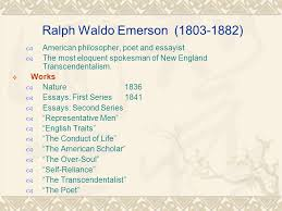 american literature new england transcendentalism emerson and  5 ralph