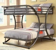 image of queen size bunk beds metal