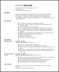 Assistant Coach Resume Samples Coaching Resume Examples Elegant Free Entry Level Sports Coach