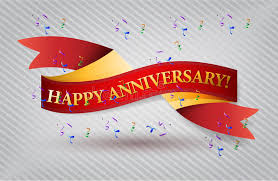 happy anniversary banners happy anniversary red waving ribbon banner stock illustration