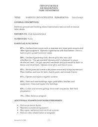 Resume Samples For Groundskeeper Sidemcicek Com