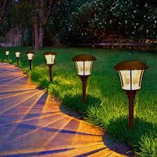 round solar garden lights solar power