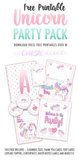 Free Printable Welcome Cards Free Printable Unicorn Party Decorations Pack The Cottage Market