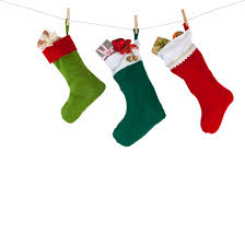colorful xmas socks. red, green, dark green color. rope with clothespins.  design decoration element, isolated