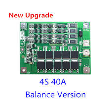 4S 40A Li ion Lithium <b>Battery</b> 18650 Charger PCB BMS Protection ...