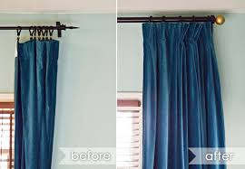 using curtain clips a diffe way what a huge difference for the bedroom curtains hookshow