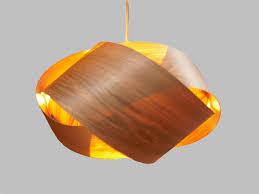 latest wood veneer pendant lamp