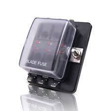 car audio and video fuses fuse holders mictuning led illuminated automotive blade fuse holder box 6circuit fuse block