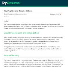 Top Resume Reviews Best 903 Resume Evaluation 24 TopResume Review Christine