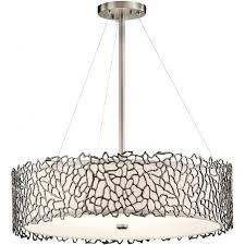 silver c drum shade ceiling pendant light