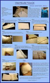 chest binder tutorial by on deviantart