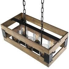 edison bulb pendant lighting. Rustic 6 Lights Kitchen Light, Edison Bulb Pendant Lighting Fixtures, Vintage Style Island Lamp, Modern Wood Light With Glass Shade Round