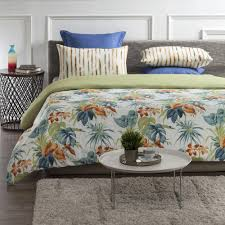 a1 home collections palm oasis wrinkle resistant reversible print 100 organic cotton multi color
