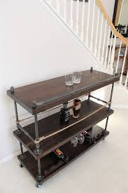 unique bar furniture. Architecture Rustic Bar Cart Throughout Industrial Pipe Wood Unique Bars Prepare 1 Navy Blue Valance Plug Furniture O
