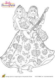 Coloriage Barbie Princesse Et Popstar Sur Hugolescargot Com