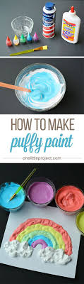 simple crafts for kids to make diy puffy paint tutorial easy diy craft ideas