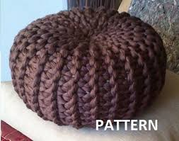 Knitted Pouf Instructions