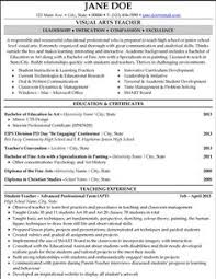 Art Teacher Resume Sample | Employment | Pinterest | Teacher, Sample ...