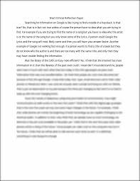 reflection essay about a course short critical reflection paper short critical reflection paper