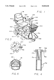 patent us5020624 power drive scooter google patents patent drawing