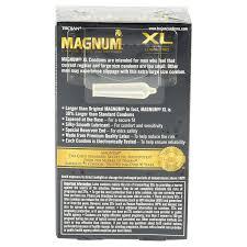 magnum xl size trojan magnum xl lubricated condoms large size 12 ct meijer com