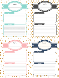 27 Images Of Free Printable Recipe Divider Template Leseriail Com