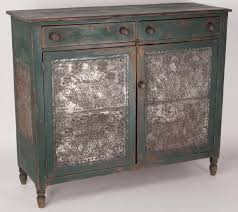 tin furniture. wythe co valley of virginia painted poplar pie safe rectangular top above two dovetailed drawers and doors each door with an applied joinedtin tin furniture