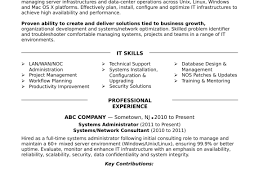 Linux Administrator Resume Contract Administrator Resume Samples
