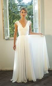 romantic vintage inspired wedding dress custom made chiffon