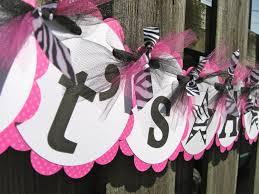 Baby Shower Banner It\u0027s a Girl Pink Black and by ElegantEvee ...