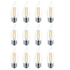 Candle Lights Home Depot Philips 40 Watt Equivalent B11 Dimmable Edison Glass Led