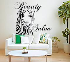 sweet looking salon wall art room decorating ideas beauty stickers decal hairdressing decor living home interior