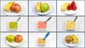 5 Fruit Puree Combinations For 6 Months To 18 Months Old Babies Homemade Baby Food Recipes Stage 2