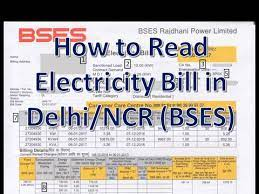 how to read electricity bill in delhi