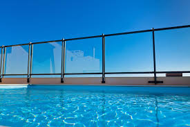 glass pool fencing is elegant and adds such a simple yet cool look to your pool area this gives you a safe fencing area without the traditional old fencing