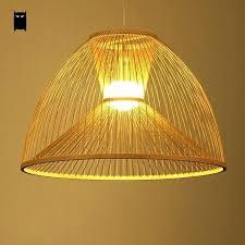 rattan pendant light ikea bamboo wicker rattan yurt shade pendant light fixture throughout designs