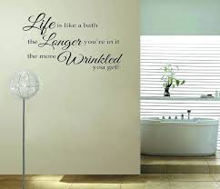 charming bathroom wall vinyl on bathroom wall sayings ping low bathroom vinyl wallpaper for bathroom