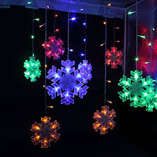 Festival Holiday Hanging Tree lights Indoor Outdoor String Lights 132 Bulbs  3M 10ft Snow String Lights For Bedroom, Patio, Parties Colorful Light